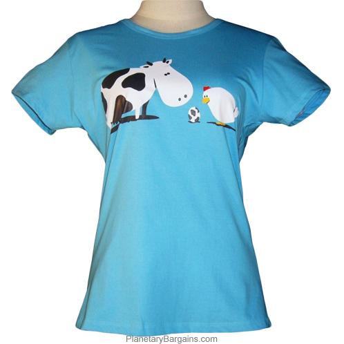 Chicken and Cow Egg Shirt Girls
